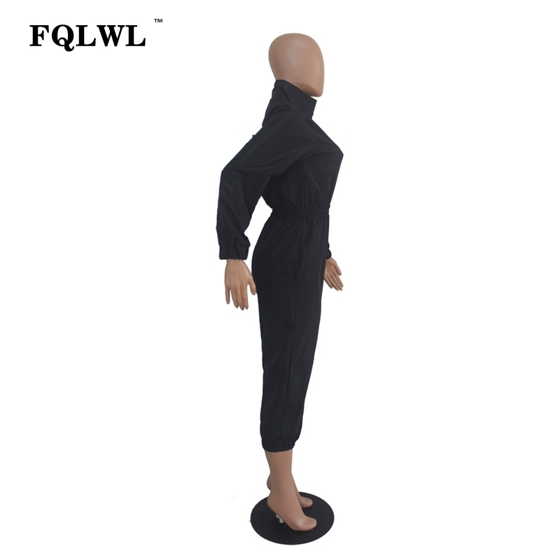 Fqlwl Streetwear Rompers Womens Jumpsuit Long Sleeve Pink Black Jumpsuit Female 2018 Casual Bodycon Overalls For Women Playsuit MX190726