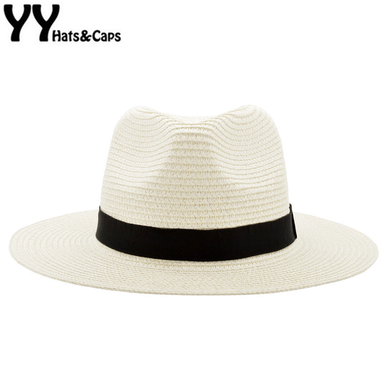 Panama Hat Women Straw Fedora Fmale Sunhat Women Beach Sun Visor Cap Chapeau Co