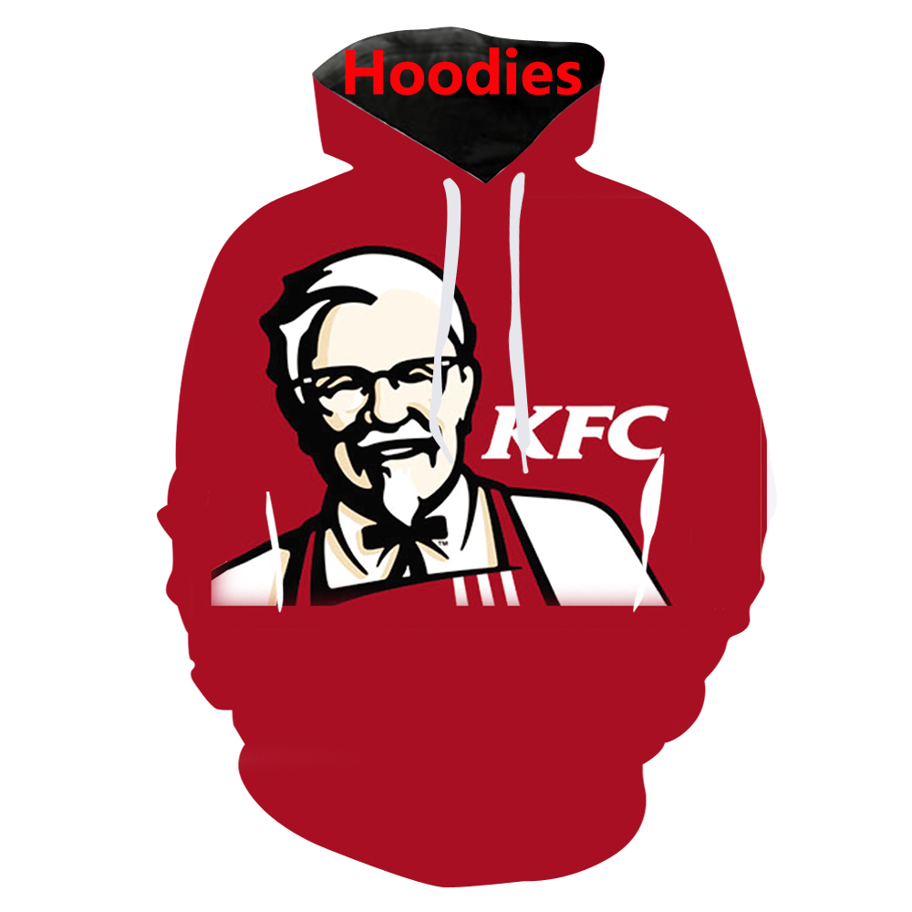 New Autumn Winter Men//women joggers Print KFC chicken Sweats Food Hip Hop Pants