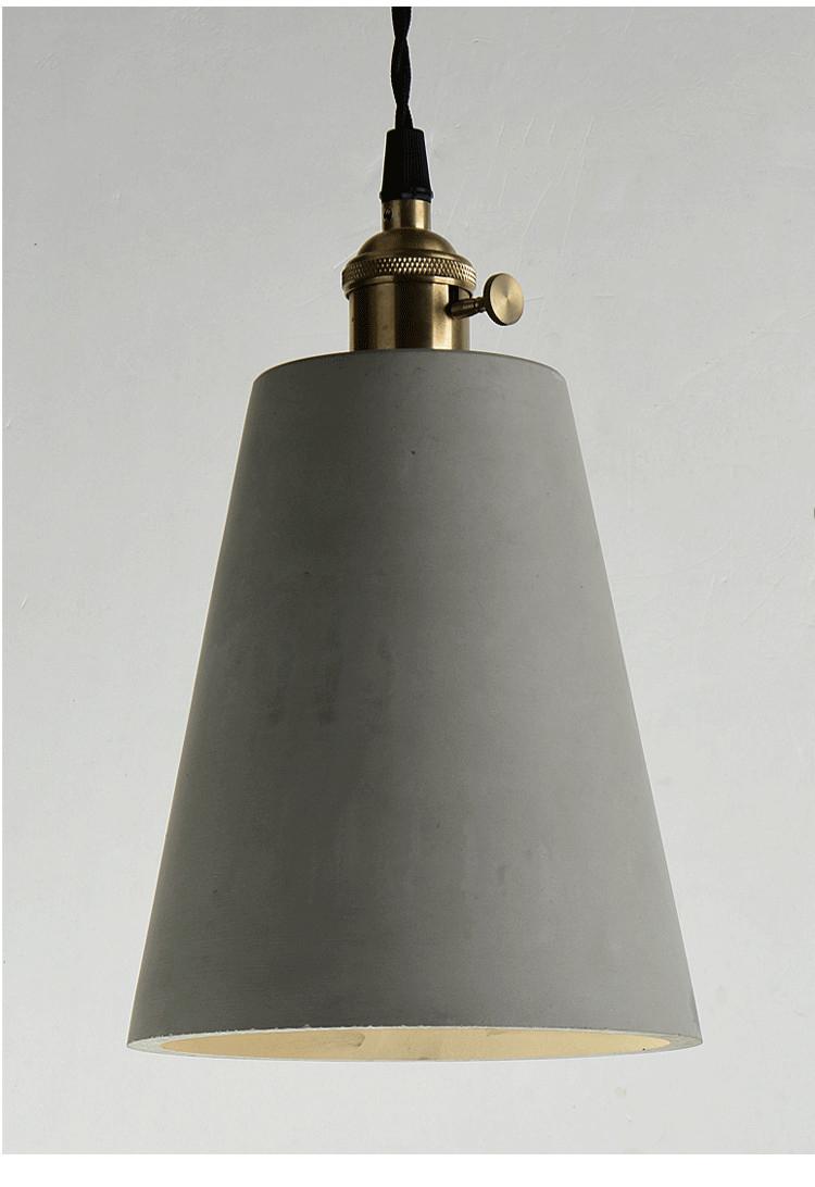 antique indoor cylinder led lamp vintage cement pendant light