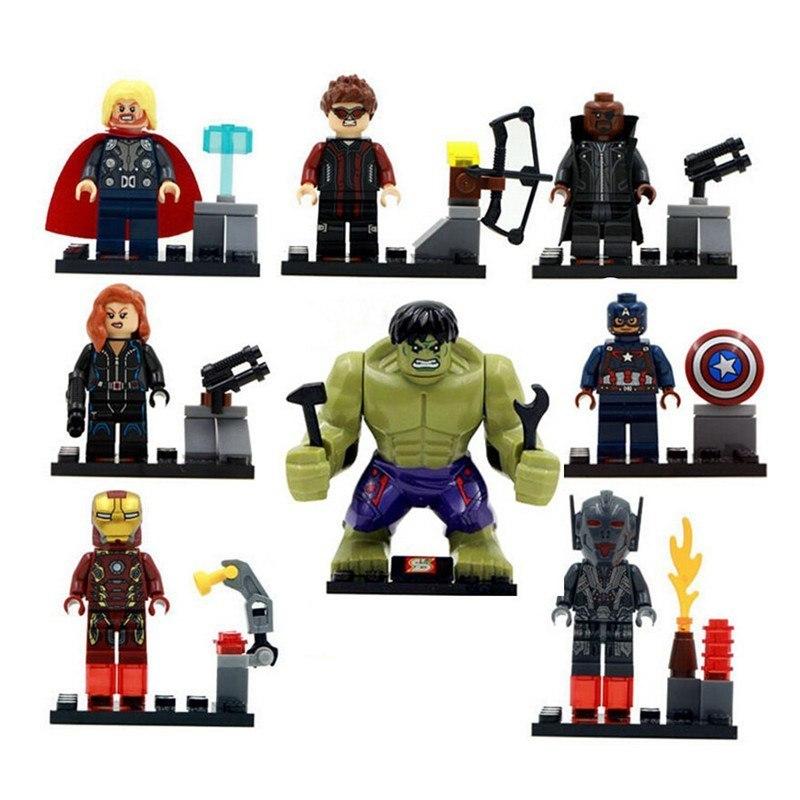 8pcs-lot-Legoings-The-Avengers-Hulk-Thor-Captain-Iron-man-Black-Widow-Building-Blocks-Kit-Toys (2)