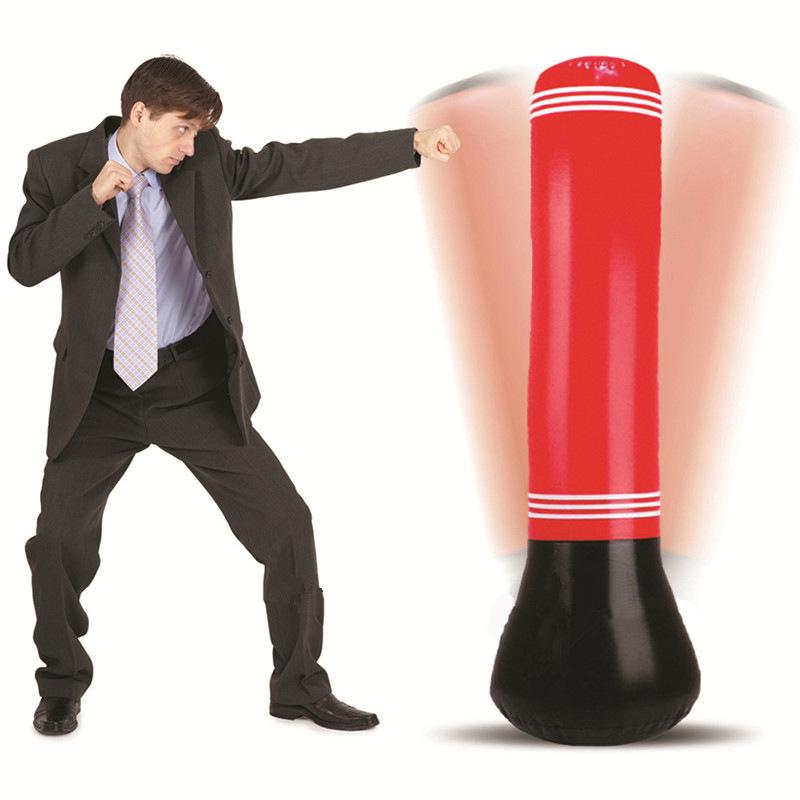Kick Training Inflatable Boxing Punching Bag Sandbag Adult Children Sport EA 01