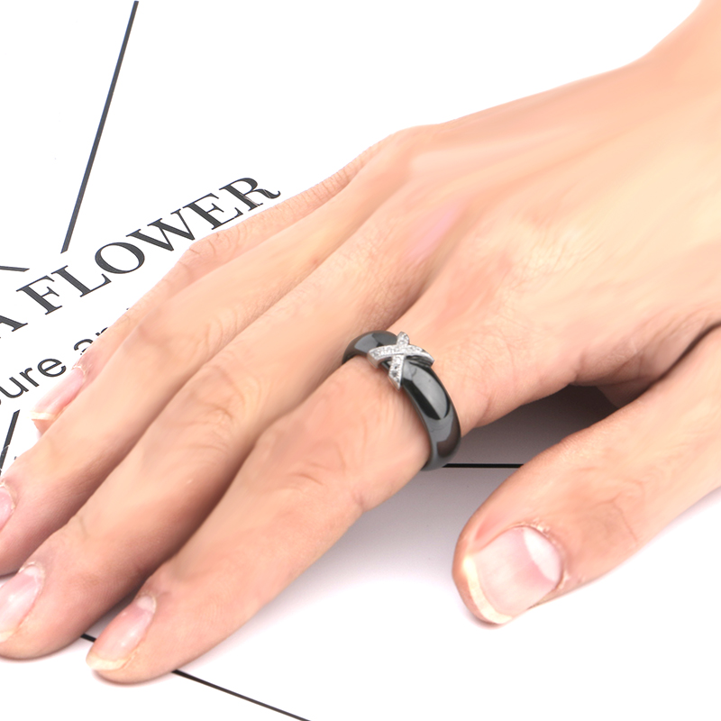 white ceramic wedding ring