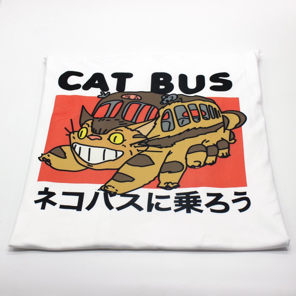 Hillbilly Studio Ghibli Voisin Totoro Montez Le Chat Bus Japonais Anime Unisexe Unisexe T-shirt Blanc