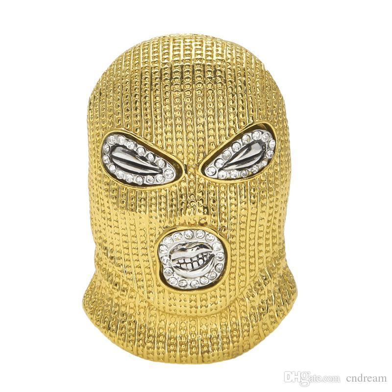 CS Head Mask Necklace Silver Gold Headgear Pendant Chains Fashion Hip Hop Jewelry for Men Women Drop Shipping