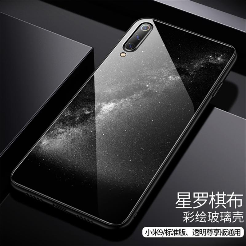 Aixuan Glass Case For Xiaomi mi 9 Mi9 Explorer Xiaomi mi 9 SE Case painted Tempered Glass Silicon Protective full Cover Cases (15)