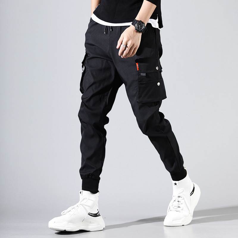 Hip Hop Men Pantalones Hombre High Street Kpop Casual Cargo Pants With Many Pockets Joggers Modis Streetwear Trousers Harajuku Y190415
