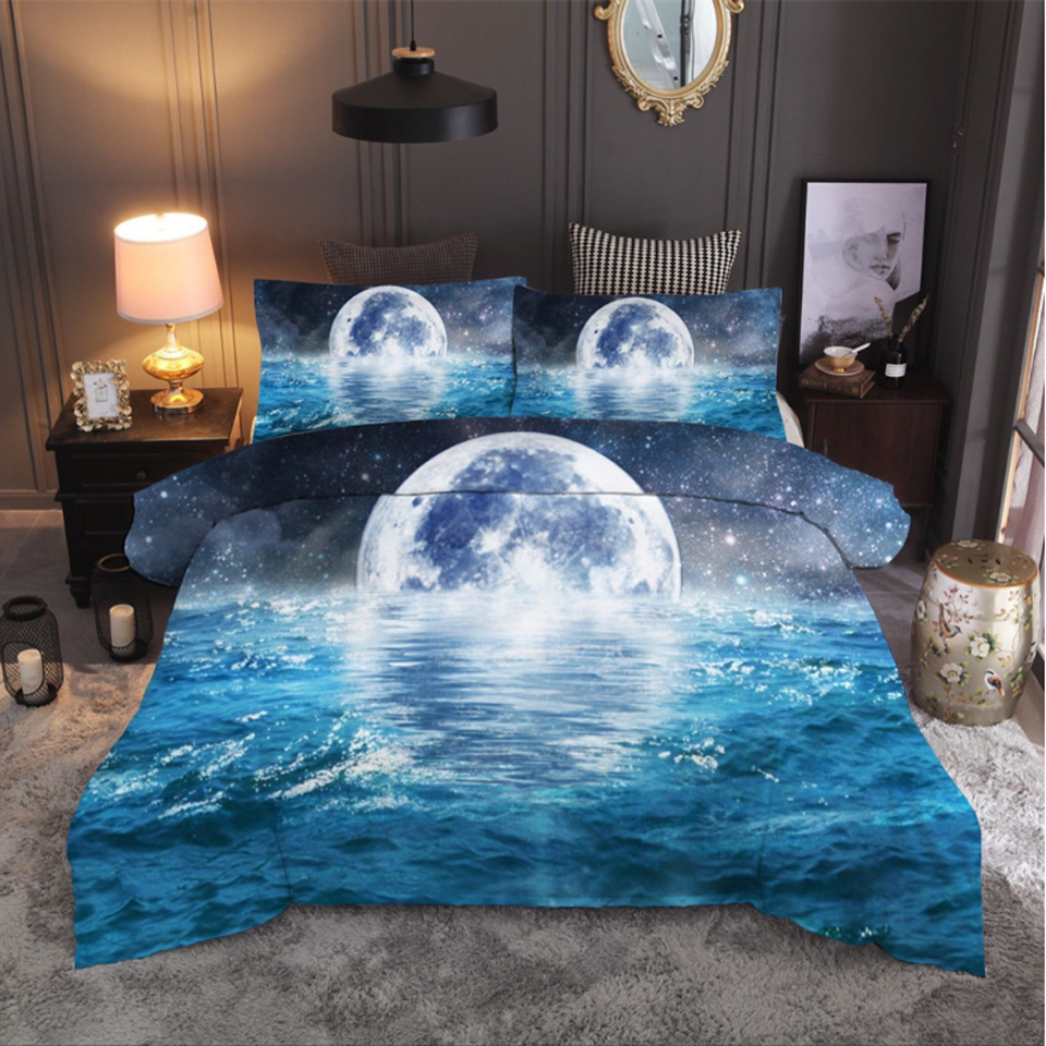 3D Clear Beach 604 Bed Pillowcases Quilt Duvet Cover Set Single Queen King AU