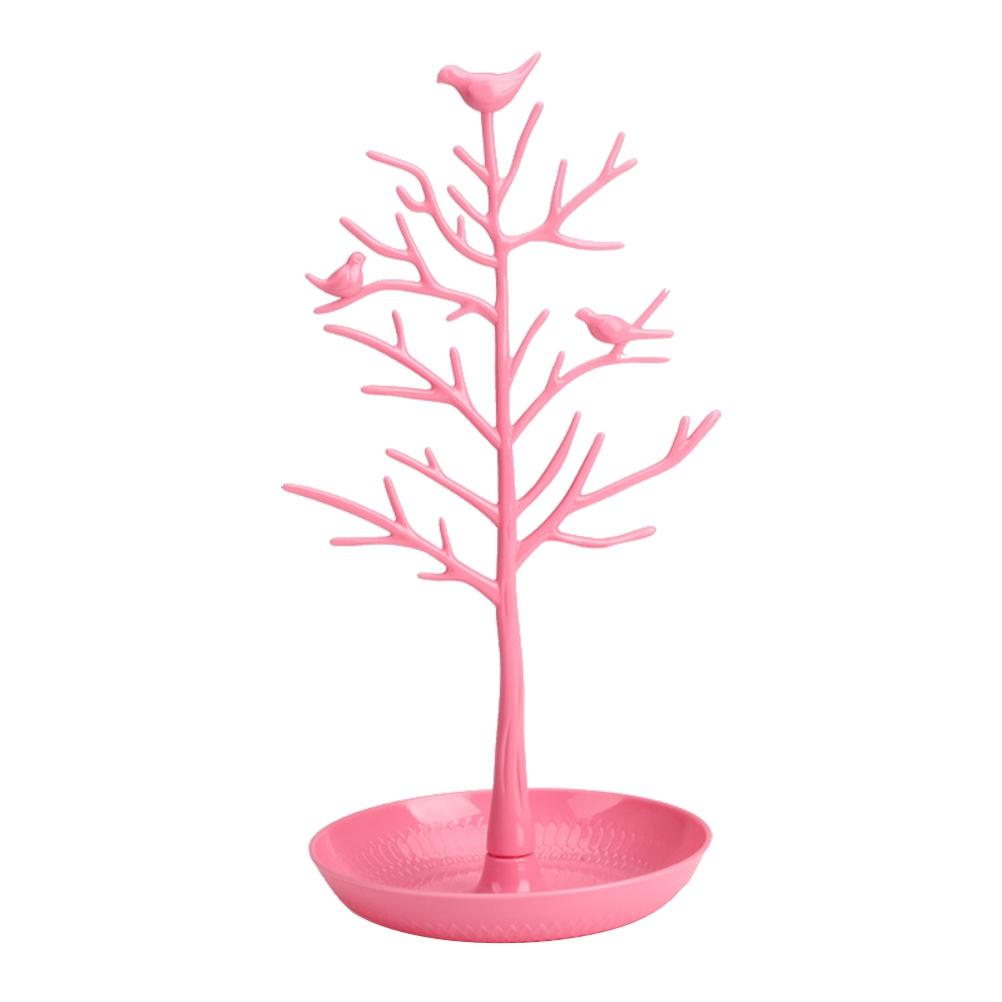 Birds Tree Design Jewelry Stand Durable Chic Fashion Storage Organizer Tower Stand for Necklace Jewelry Earring