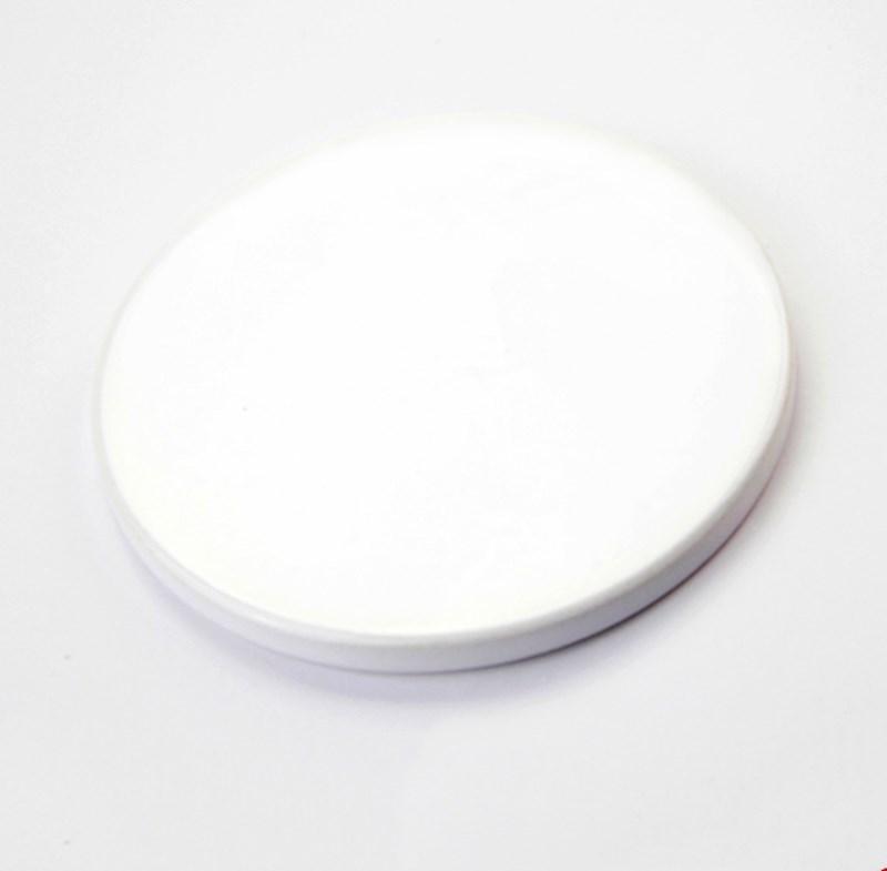 10 Blank White Fabric Coasters Plain Printable Sublimation Square Round Circle