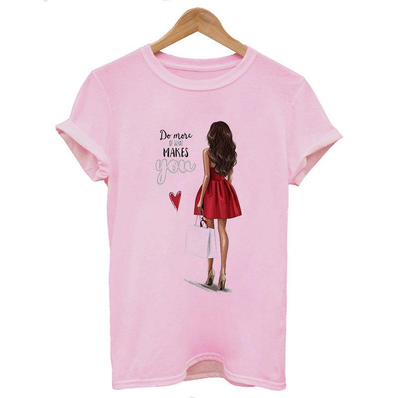 Yaz Kadınlar İçin Of 2019 Harajuku Estetik İnce Bölüm Tişörtlü Do Mose Tops Ne Mutlu Tişört Moda T Shirt Baskı