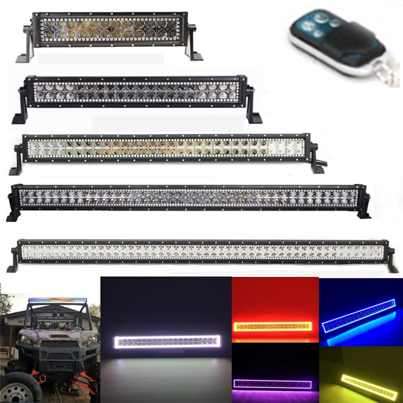 """7D Tri-Row 32/"""" 405W Curved LED Light Bar Combo Driving Lamp Tractor Boat PK 180W"""