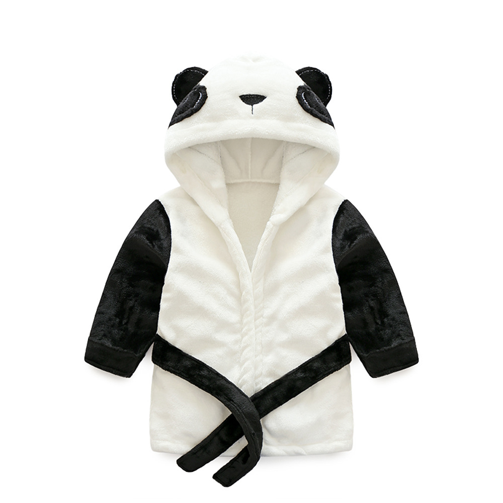 Modis Animal Bathrobe Kid Boy Badjas Baby Girl Nachthemd Cute Panda Child Homewear Flannel Night Gown