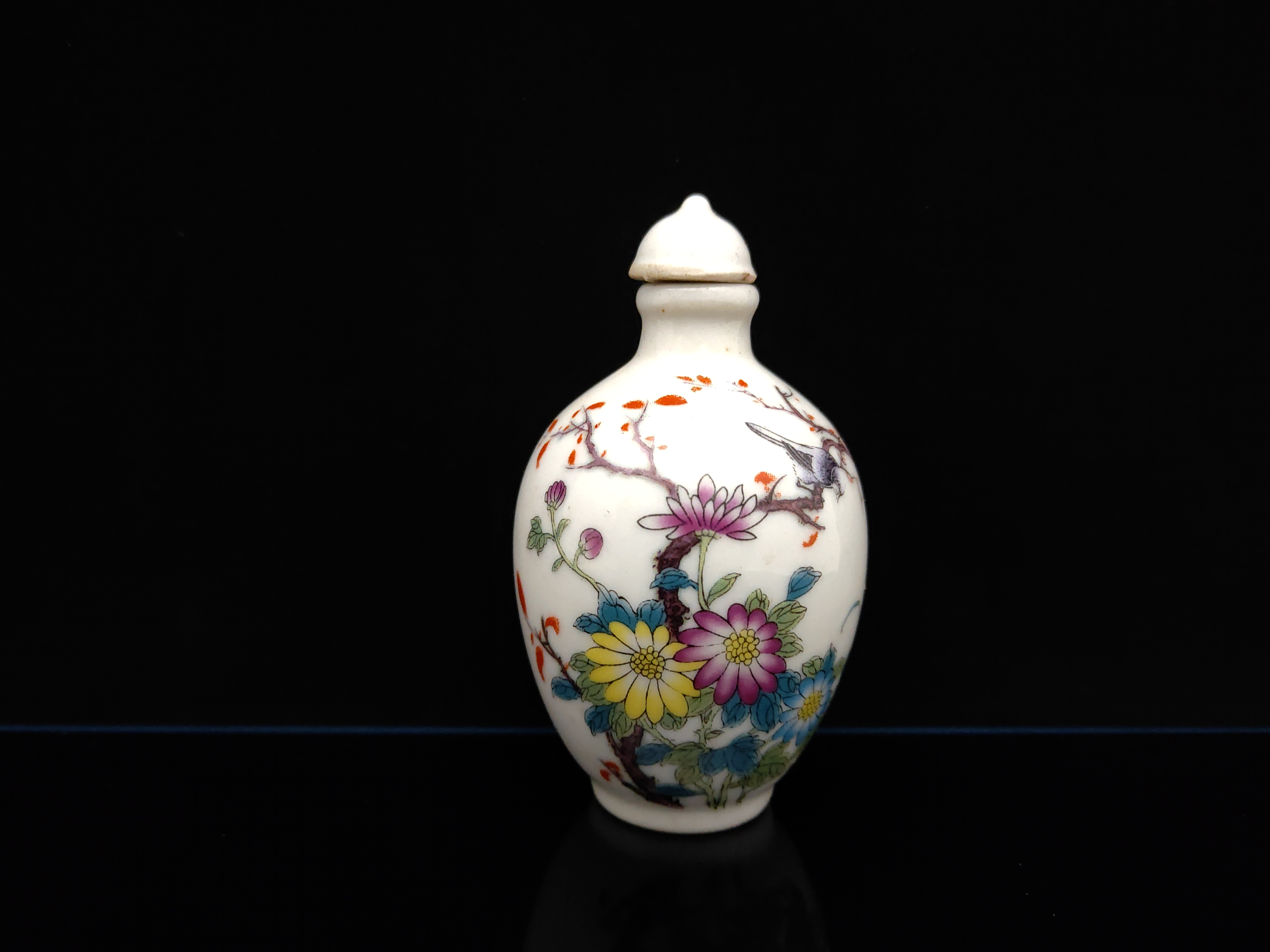 Chinese Collectible Handmade ceramics Children/'s interest porcelain snuff Bottle