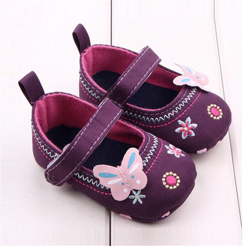 Fashion Baby Girl First Walker Butterfly Soft Sole Toddler Shoes NDA84L16 (7)