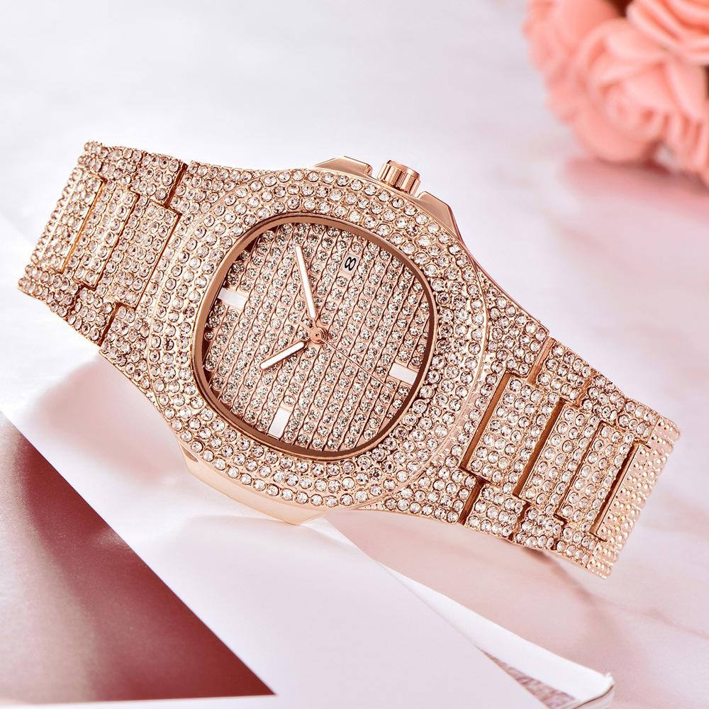 drop shipping gold diamond watch men hot fashion mens quartz watches (7)
