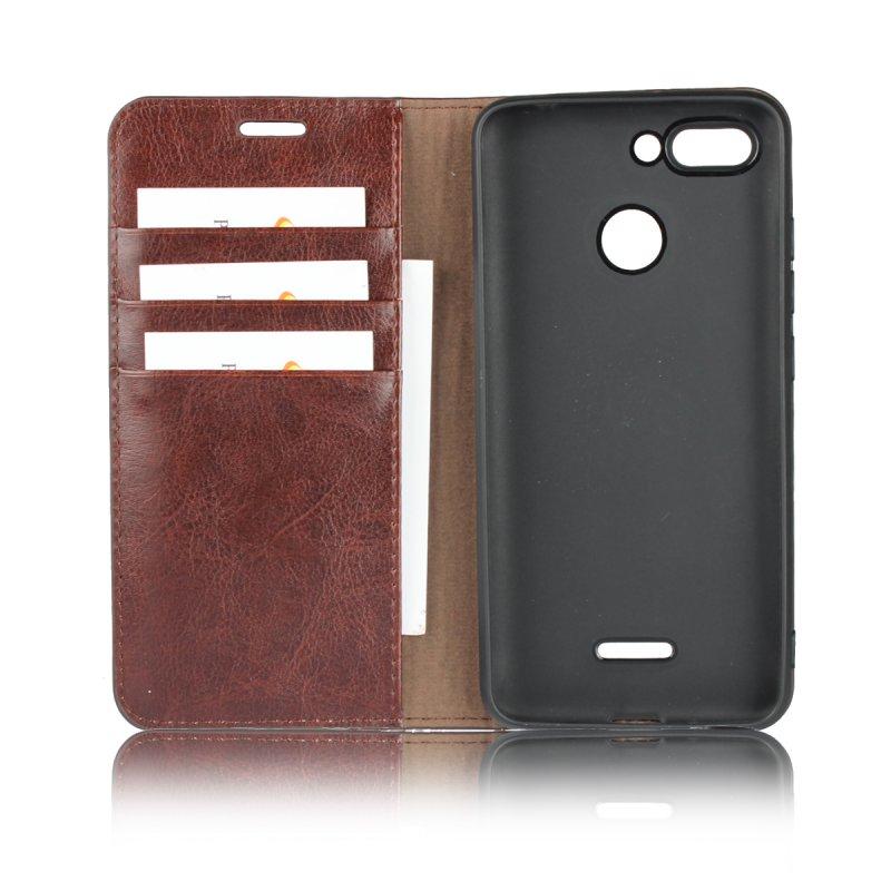 Custodia in vera pelle Xiaomi Redmi 6 Custodia portafoglio di lusso Xiaomi Redmi 6 Custodia cellulare con attacco a vibrazione Etui Coque Case