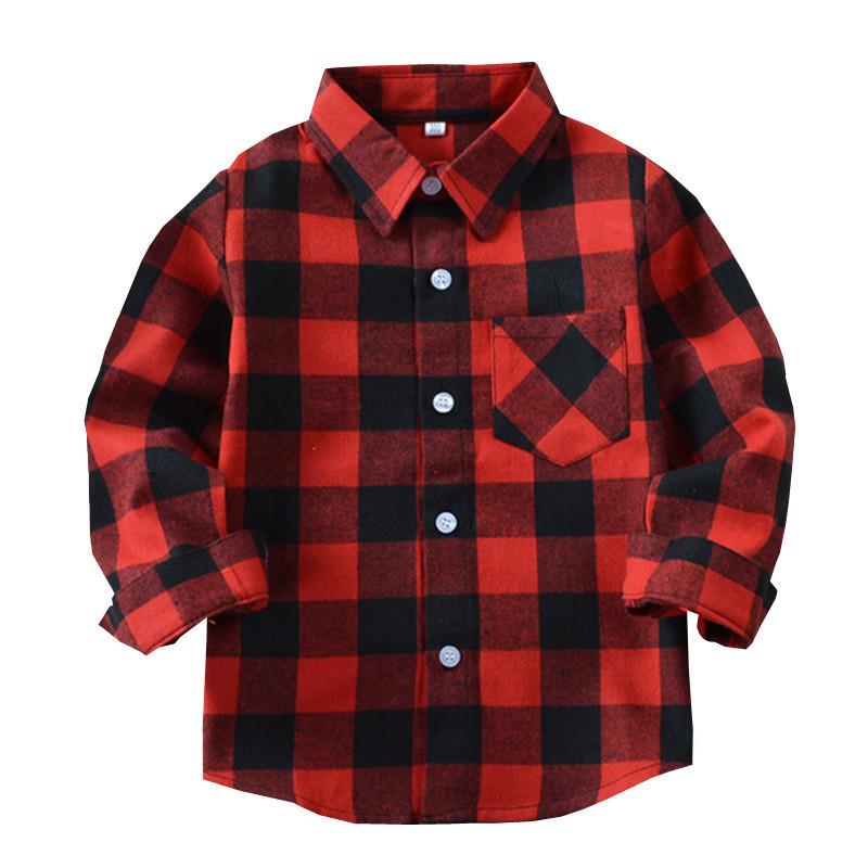 Brand New Kids Shirt Toddler Infant Baby Boys Girls Classic Tops Shirt Long Sleeves Shirt Autumn Children Casual Clothes 3-11T