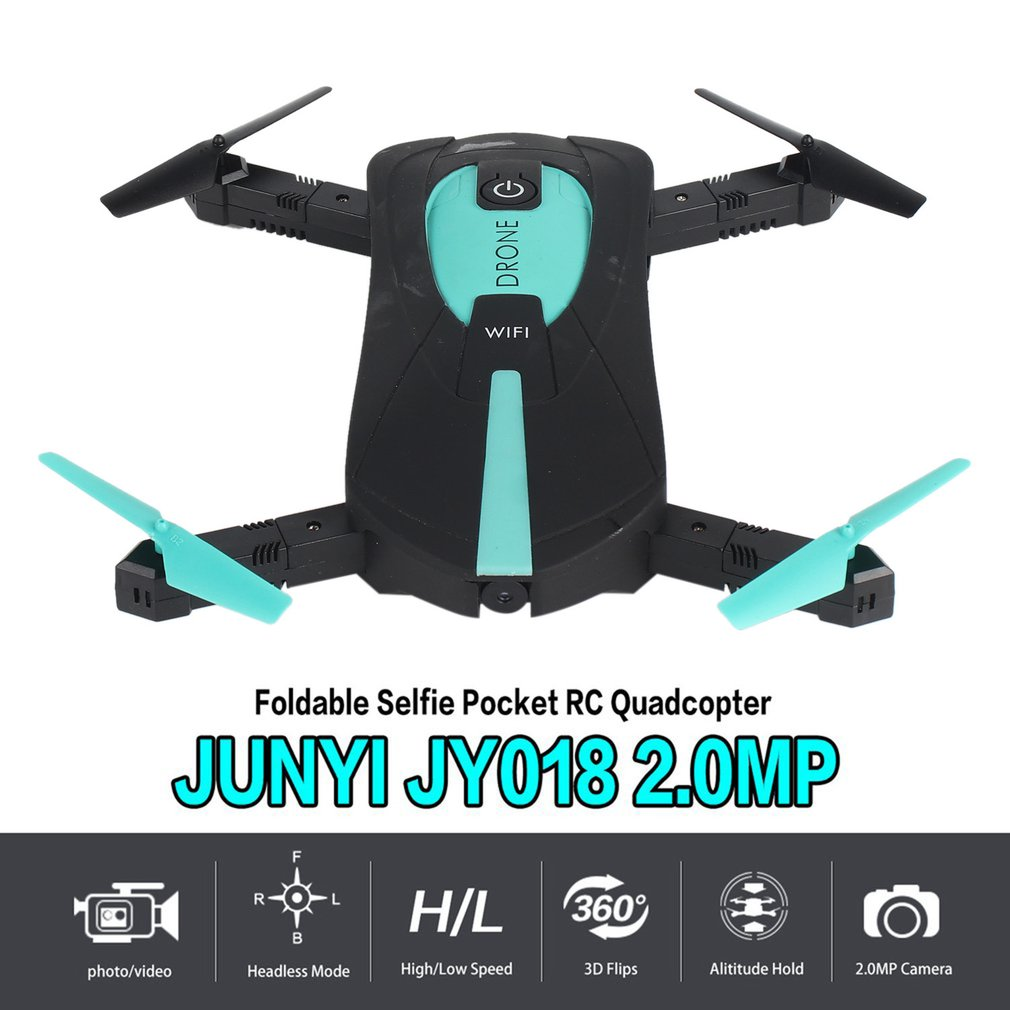 Foldable Selfie Pocket Drone 2.4GHz 6-Axis Gyro Wifi FPV 2.0MP Camera G-Sensor Altitude Hold Quadcopter RC Helicopter Model Toys