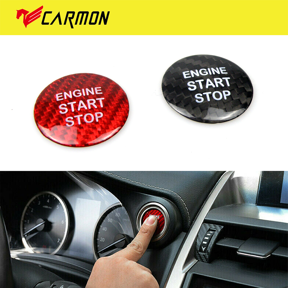 2PCS Red Engine Start Stop Button Cover Trim For LEXUS IS250//300//350 2013-2018