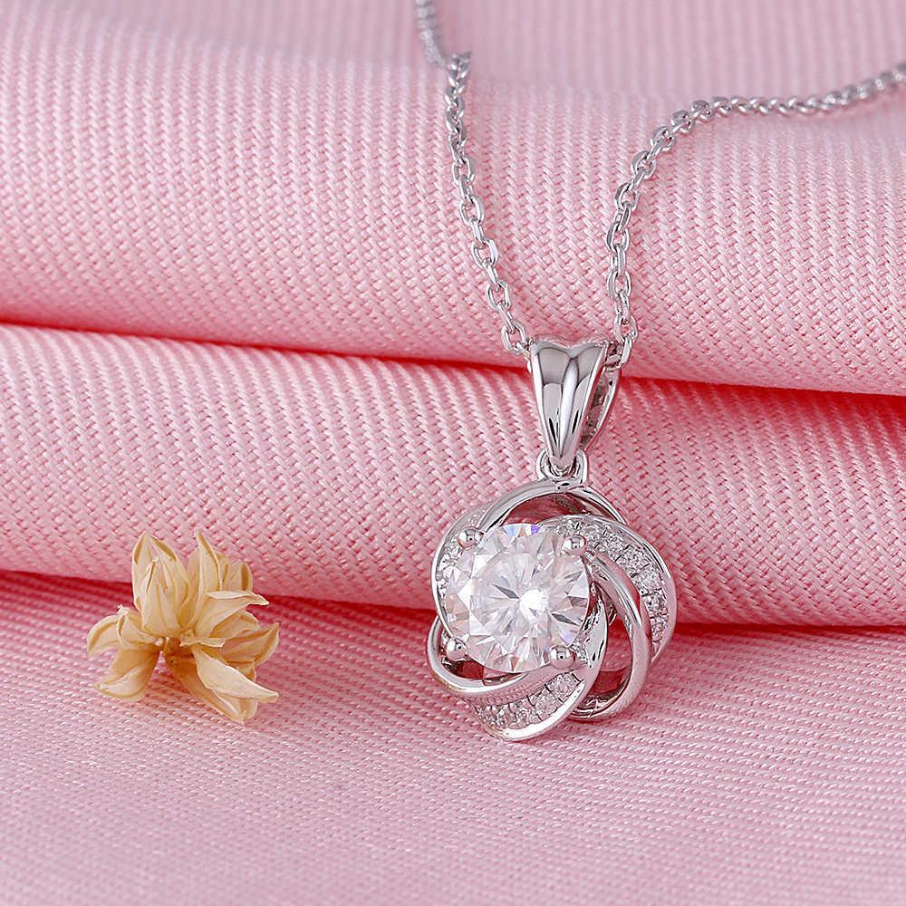 moissanite pendant silver (2)