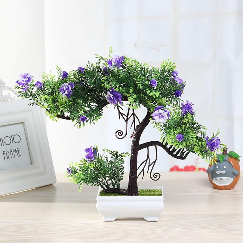 Gros Pot Fleur Plastique ménage artificielle fleur simulation en pot décoration petite miniascape  ensemble de fleurs salon intérieur en plastique décor