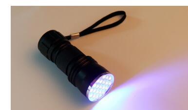 Hot UV Ultra Violet 21 LED Flashlight Blacklight Aluminum Torch Light Lamp L70428 Factory Price