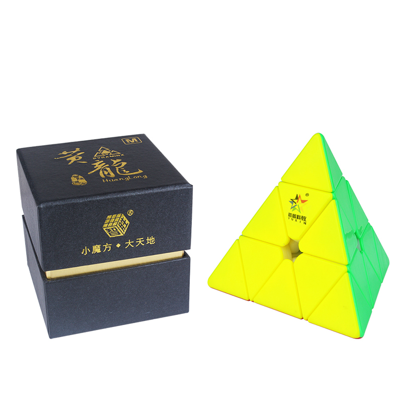 Yuxin Huanglong 3x3 Magnetic Triangle Cube PyramiSpeed Puzzle Zhisheng MagicCube 3x3x3 Cubo Magico Educational Toys for Children