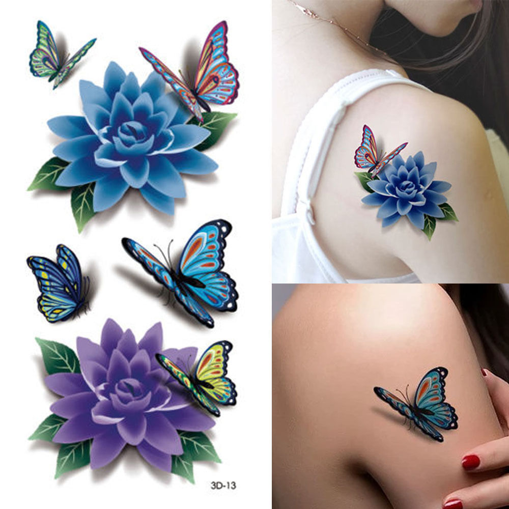 36 SheetsLot Beautiful Body Art Beauty Makeup Cool Waterproof Temporary Tattoo Stickers Henna Tattoos Halloween Girls And Men (14)