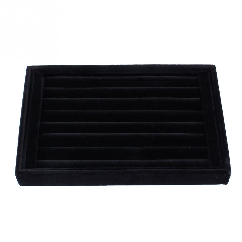 Ring Jewellery Display Storage Box Tray Case Organiser for Tie Clip Earrings