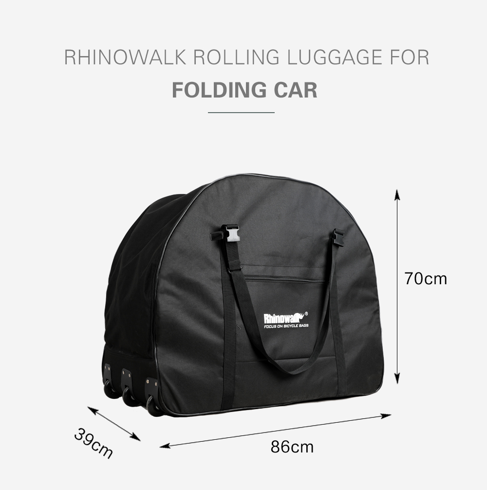 Rhinowalk Folding Bicycle Storage Bag Oxford Wear-resisting Luggage Cases for 20-22 Inch Folding Bike Electric Vehicles (8)