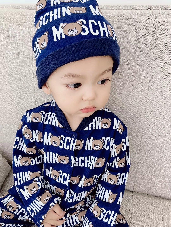 New Baby Romper длинный рукав Комбинезон Младенческая Hat Bib Цельный одежды 121010