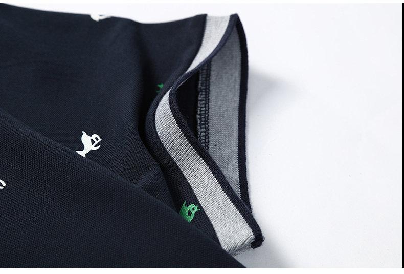 Summer mens polo shirt Cotton polka dot short male polo men top tee quick dry size M-3XL Muls brand fashion Black White Gray1613-06