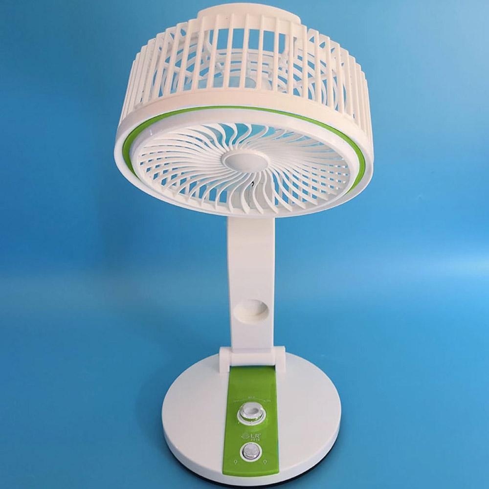 BRELONG Multifunción USB con carga Plegable Pequeña lámpara de mesa con ventilador para oficina, Escritorio, Azul / Verde / Dorado / Rosa