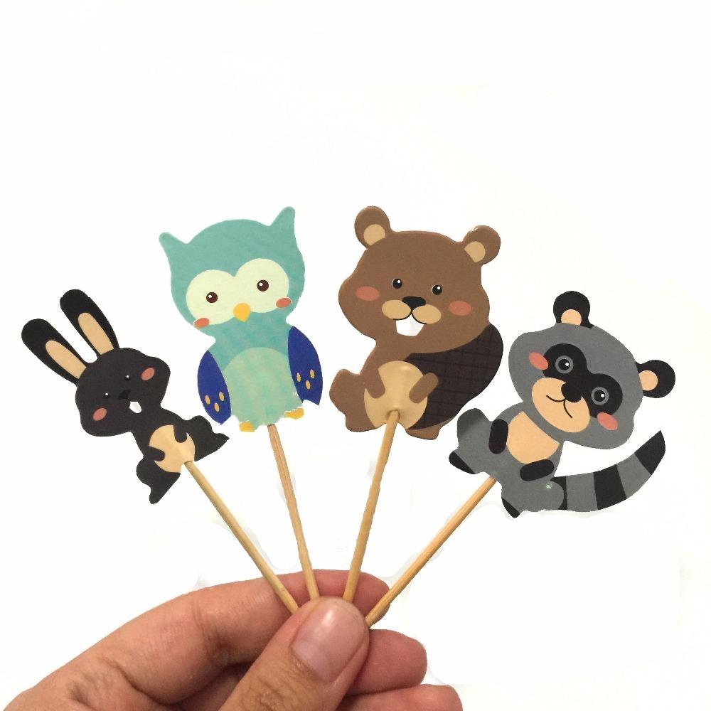 24pcs-Cartoon-Animal-Cupcake-Toppers-Bear-Owl-Rabbit-Cake-Stick-Picks-Kid-s-Birthday-Party-Decorations