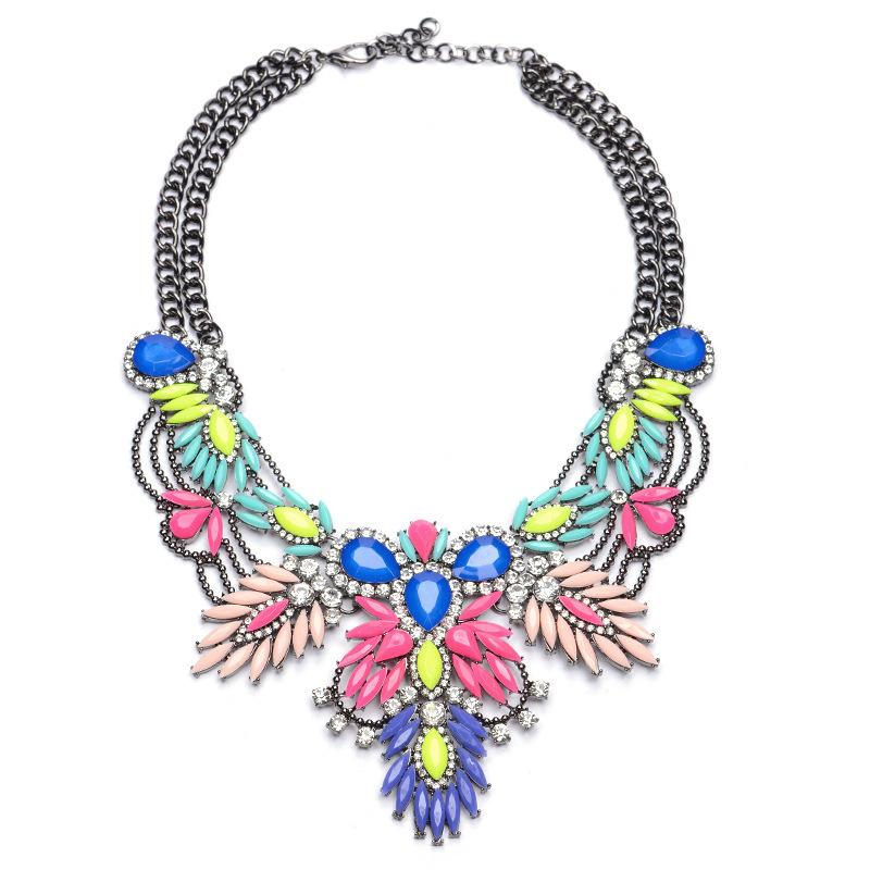New Women Fashion Bijoux Colorful Acrylic Beads St...