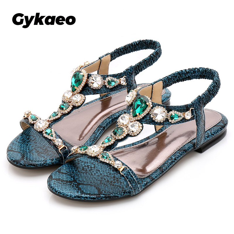 CuteFlats Bohemia Flip-Flop Sandals with Simple Designed and Flat Heel for Summer
