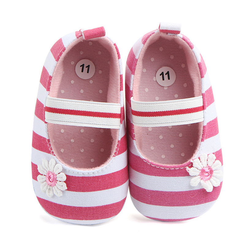 Summer Boys Girls Shoes Infant Kids Girls Baby Stripe Flower Shoes Soft Sole Anti-Slip Shoes First Walker NDA84L25 (8)