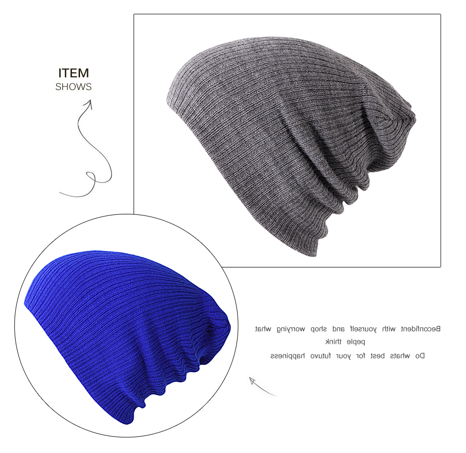8Autumn Winter Cap Men Women Solid Color 2018 New Casual Brand High Quality Fashion Beanies For Girls