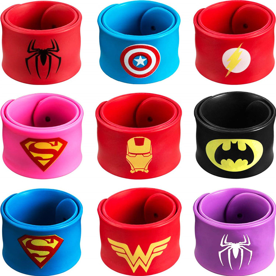 MXECO Superhero Wristbands Batman Superman Superheroes Logos Silicone Wristbands Pulsera WRISTBAND Sport Gift Decoration