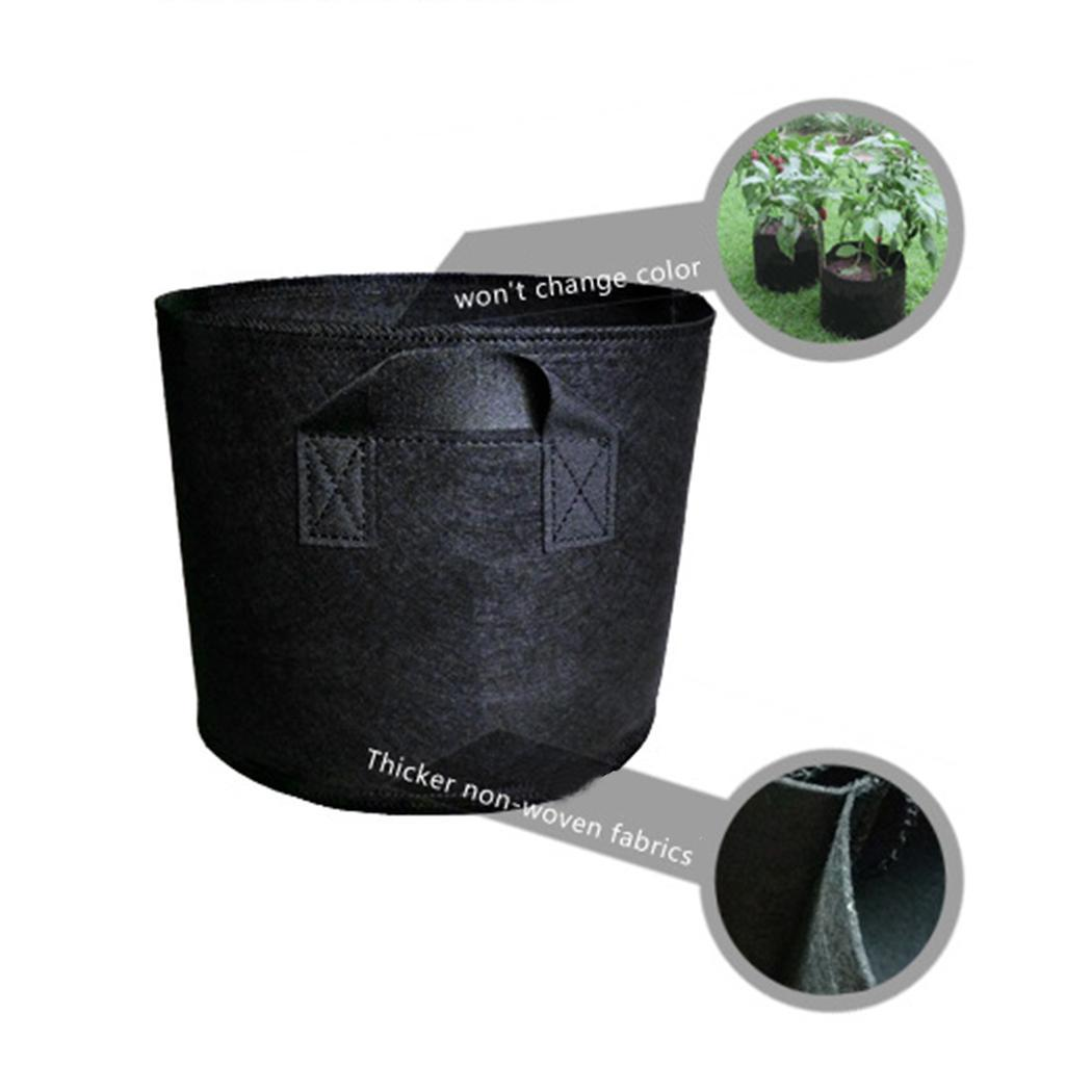 Fashion Non-woven Fabric Growing Bag Plant Pouch Round Pots Seedling Container Fashion New Non-Woven Fabric Growing Bag