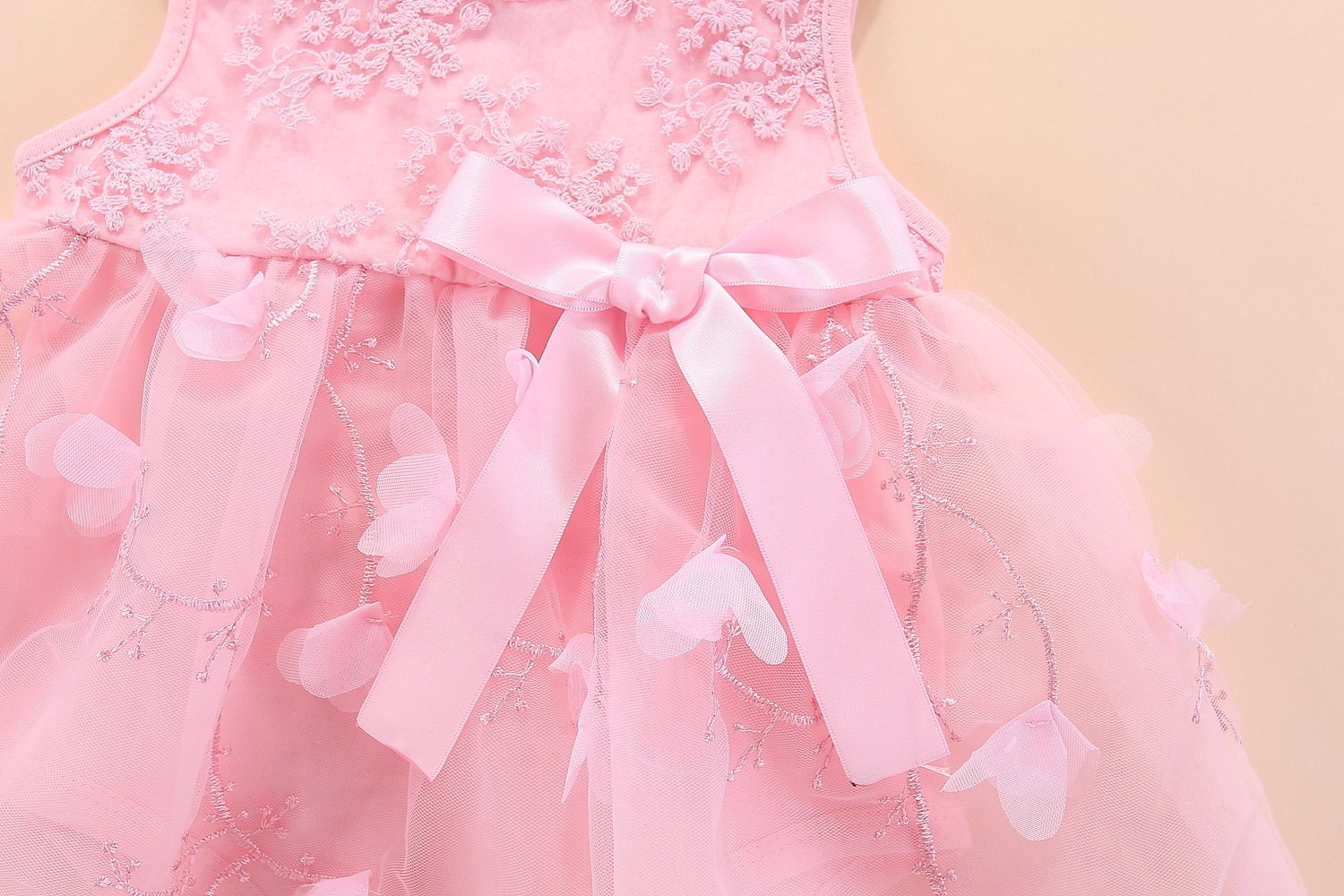 Newborn Baby Girl Dresses Clothes Summer With Flower 0 3 6 Month Baby Girl Dress For Party And Wedding Princess Style Clothes Y19050801