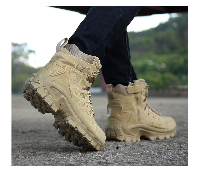 Brand Men\`s Boots Military boot Tactical Big Size Army Male Shoes Safety Combat Mens Chukka Ankle Bot Motocycle Boots (18)