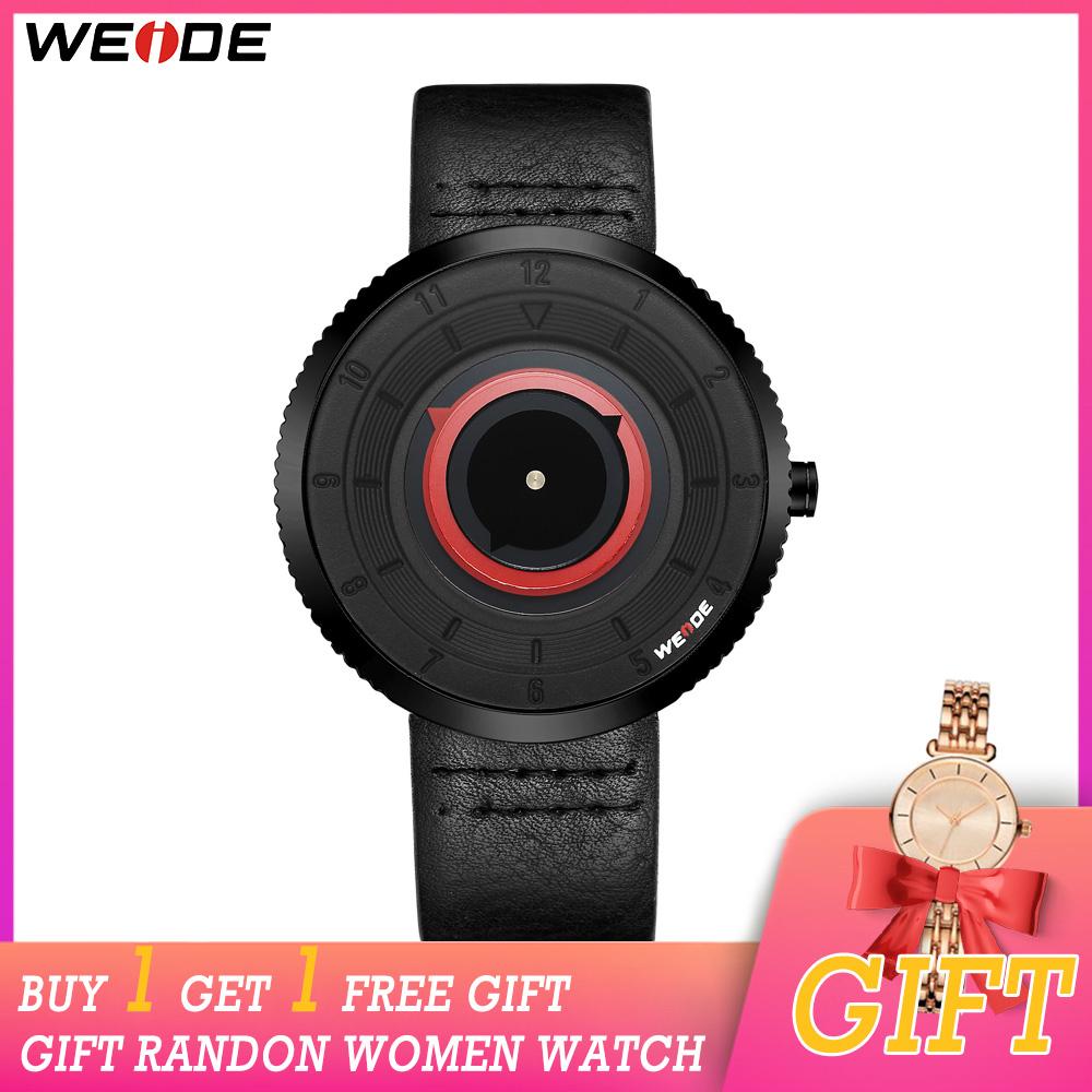 cwp 2021 WEIDE watches Quartz Movement Waterproof Mens Luxury Leather Strap Date Clock Relogio Masculino Women Watch Buy Get One Free Gift