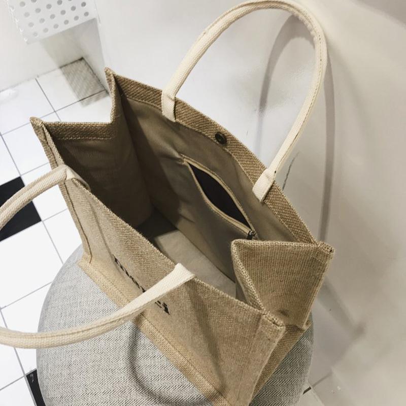 Summer New Women Weave Handbag INS Popular Fashion Female Letter Beach Straw Bags Ladies Travel Casual Braided Tote Bolsa SS3365 (7)