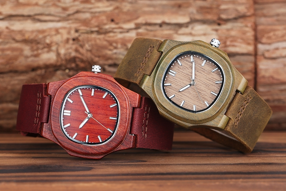 2017 New arrivals Wood Watch Natural Light Wooden Face Fashion Genuine Leather Bangle Unisex Gifts for Men Women Reloj de madera Christmas Gifts (35)