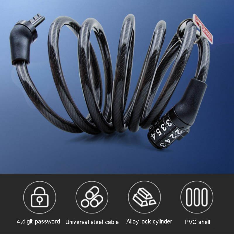 High Security Anti-Theft 5 Digit Combination Steel Wire Bike Motorbike Code Lock