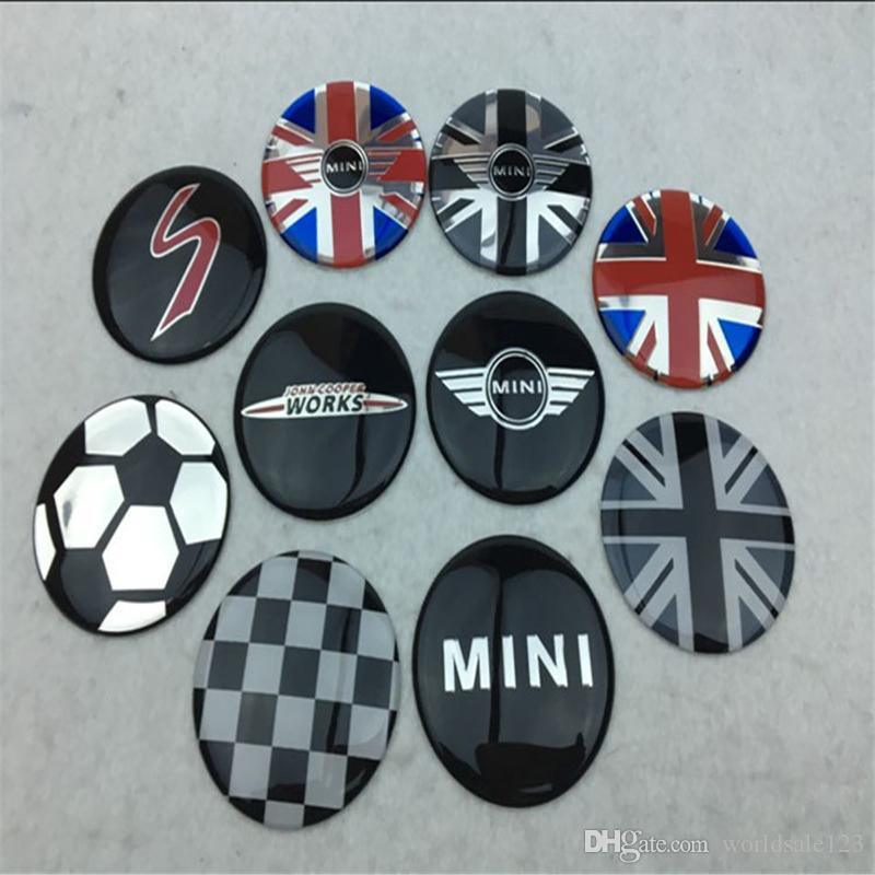 4Pcs 52mm Domed Car Emblem Center Hub Cap Decals Stickers