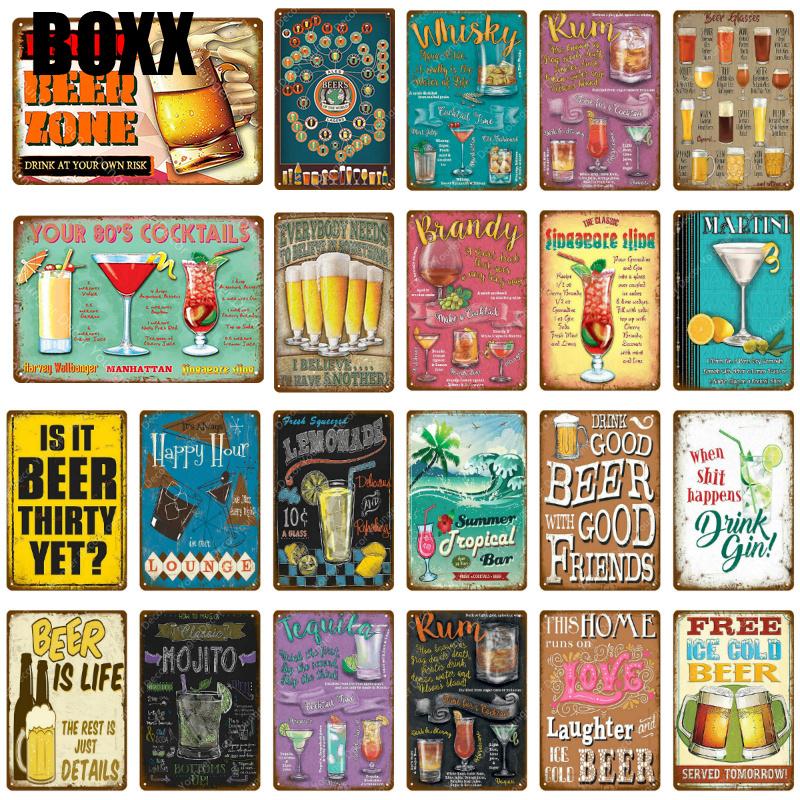 20x30cm RetroTin placa taberna Keep Calm /& Beber Vodka Bar Decoración Pared Poster