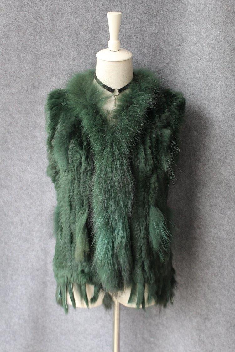 genuine real rabbit fur vest with raccoon fur collar (37)